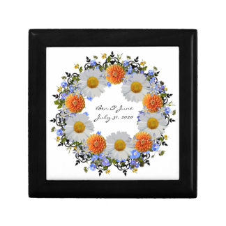 Wreath Daisy Flowers Floral Vector Gift Boxes