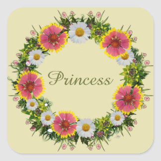 """Wreath """"Daisy Rose"""" Flowers Floral Stickers"""