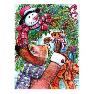 Wreath Decorating Postcard