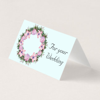 Wreath Dolly Peppermint Flowers Floral Vector Pink Card