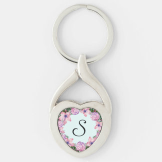 Wreath Dolly Peppermint Flowers Floral Vector Pink Keychain