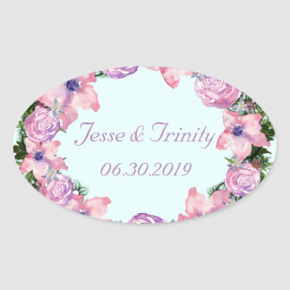 Wreath Dolly Peppermint Flowers Floral Vector Pink Oval Sticker