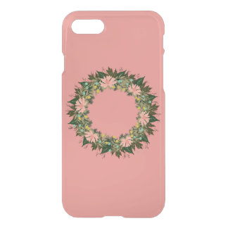 "Wreath ""Enjoy"" Apple iPhone 8/7 Clearly Deflector iPhone 8/7 Case"
