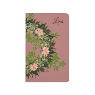 "Wreath ""Enjoy"" Flowers Floral Pocket Journal"