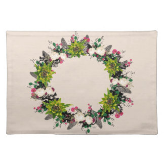 "Wreath ""Fab Cab"" Flowers Floral Placemat"