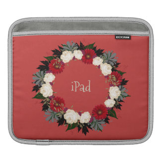 "Wreath ""Fleur"" Flowers Floral iPad Sleeve"