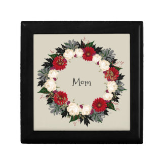 "Wreath ""Fleur"" Flowers Floral Jewelry Boxes"