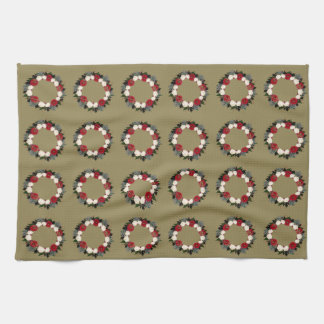 "Wreath ""Fleur"" Flowers Floral Kitchen Towels"