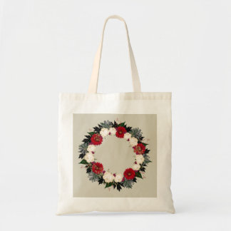 "Wreath ""Fleur"" Flowers Floral Leaves Tote Bag"