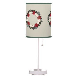 "Wreath ""Fleur"" Flowers Floral Table Lamp"