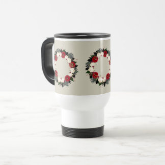 "Wreath ""Fleur"" Flowers Floral Travel Mug"