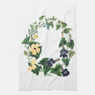 Wreath Floral Botanical Flowers Kitchen Towels