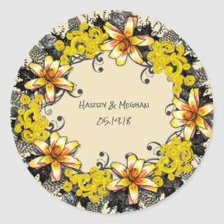 wreath flowers floral vector meghan megan personal classic round sticker