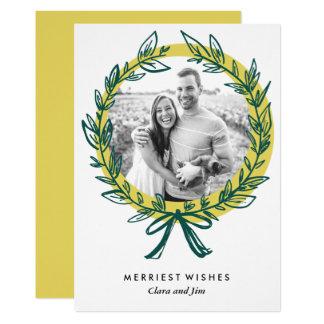 Wreath Frame Holiday Photo Card