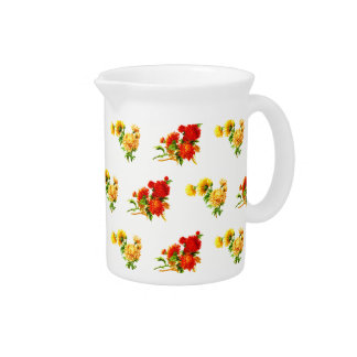 "Wreath ""Fun Flower"" Flowers Porcelain Pitcher"