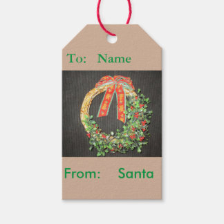Wreath Gift Tags Pack Of Gift Tags