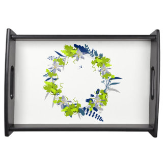 "Wreath ""Grape Love"" Flowers Floral Serving Tray"