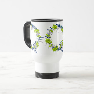 "Wreath ""Grape Love"" Flowers Floral Travel Mug"