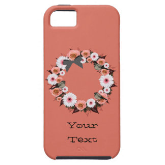 "Wreath ""Gray Bow"" Apple iPhone SE + 5/5s Case"
