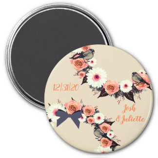 "Wreath ""Gray Bow"" Flowers Floral Vector Magnet"