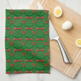 Wreath - Green Hand Towels