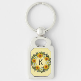 "Wreath ""Gypsy Wedding"" Flowers Floral Keychain"