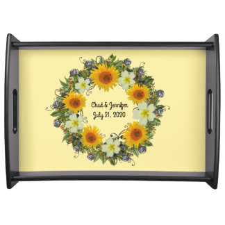 "Wreath ""Gypsy Wedding"" Flowers Floral Tray"