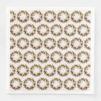 Wreath Hartz Wedding Flowers Hearts Paper Napkins