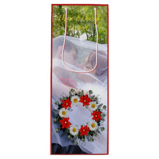 "Wreath ""Merry Wedding"" Flowers Floral Gift Bag"