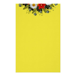 "Wreath ""Merry Wedding"" Flowers Floral Stationery"