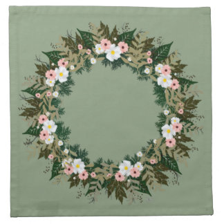 "Wreath ""Mini Flower"" Flowers Floral Napkins"