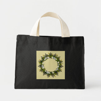 "Wreath ""Mini White"" Flowers Floral Tote Bag"