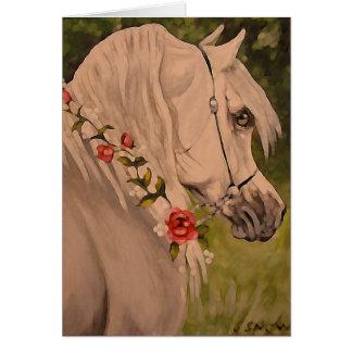 """Wreath Of Roses"" Arabian Horse Head Card"