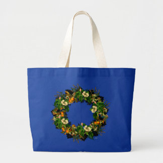"""Wreath """"Old Gold"""" Flowers Floral Tote Bag"""