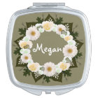 "Wreath ""Olive Wedding"" Compact Mirror"