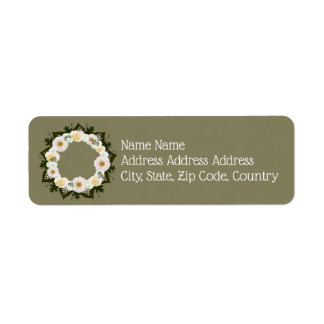 "Wreath ""Olive Wedding"" Flowers Floral Labels"
