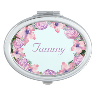 Wreath Peppermint Flowers Floral Vector Tammy Pink Mirrors For Makeup