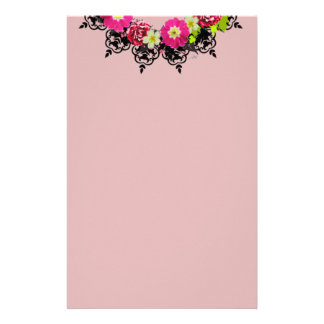 """Wreath """"Pink Grape"""" Flowers Floral Stationery"""