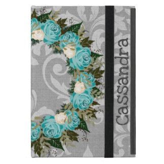 "Wreath ""Pretty Blue"" Flowers Floral iPad Mini Case"