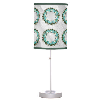 "Wreath ""Pretty Blue"" Flowers Floral Vector Lamp"