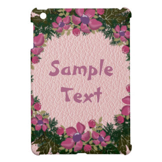 "Wreath ""Purple Dot"" Flowers Floral iPad Mini Case"
