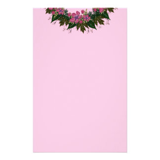 """Wreath """"Purple Dot"""" Flowers Floral Stationery"""