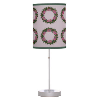 "Wreath ""Purple Dot"" Flowers Floral Vector Lamp"