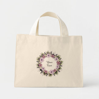 Wreath Purple Wedding Flowers Floral Wedding Bag