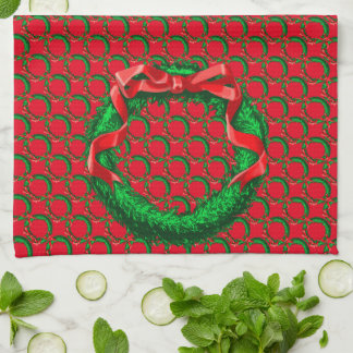 Wreath - Red Hand Towel