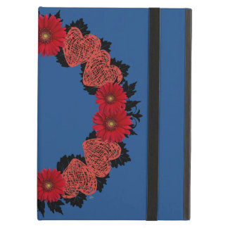 """Wreath """"Red Heart"""" Red Flowers iPad Case"""