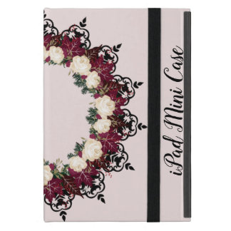 "Wreath ""Red Leaf"" Flowers Floral iPad Mini Case"