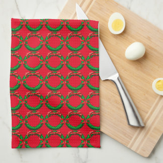 Wreath - Small Red Towel