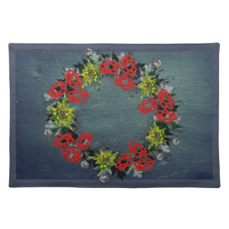 "Wreath ""Triple Flower"" Flowers Floral Placemat"