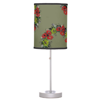 "Wreath ""Triple Flower"" Flowers Floral Vector Lamp"